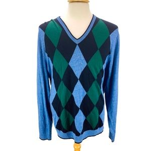 Brooks Brothers St Andrews Links Argyle Sweater